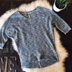 AMERICAN RAG Short-Sleeve Knit Sweater Top SMALL